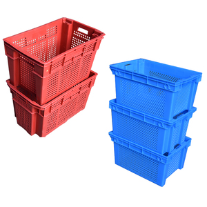Bread plastic crate for vegetable and fruit packaging box