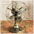 Long long ago diecast fan model OEM wholesale China classical fan crafts for gifts decoration