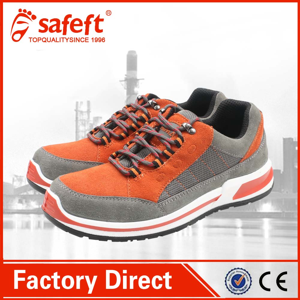 cow suede leather ground work safety shoes