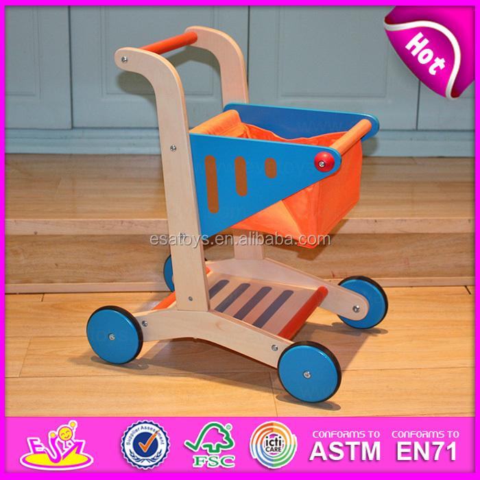 0e60e67db جديد عربة التسوق الأطفال طفل لعبة خشبية الأطفال عربة التسوق لعبة ، عربة  التسوق طقم لعب