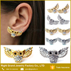 Fashion Cute Best Earrings Online Shopping Gold Diamond Zinc Alloy Owl Earrings New Design