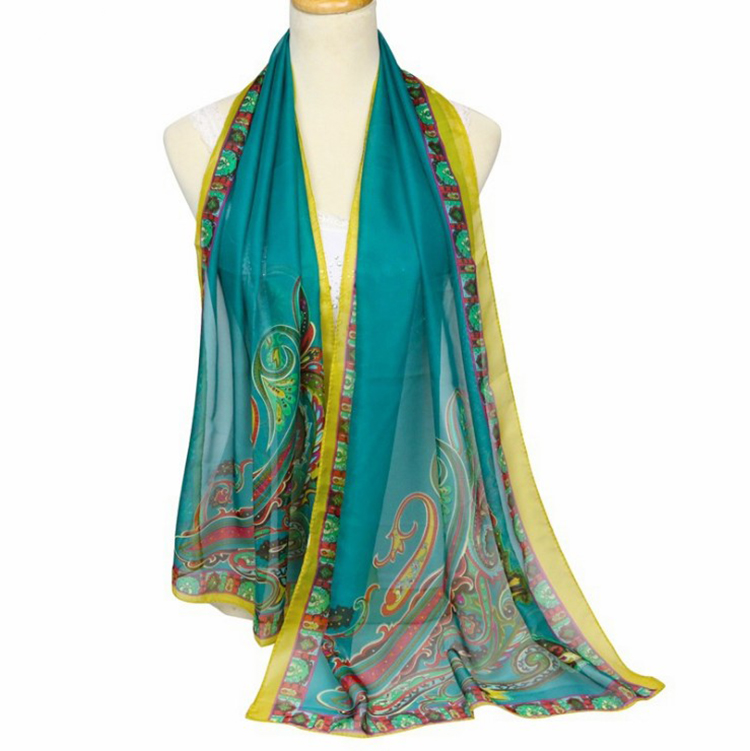 Women Scarf Chiffon paisley Printing Long Soft Wrap Scarf Ladies Shawl Scarves