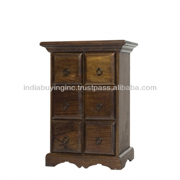 Wooden Furniture From India 6 Drawer Chest