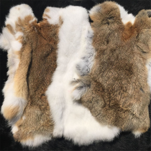 Raw rabbit fur skin and rabbit skins for clothing