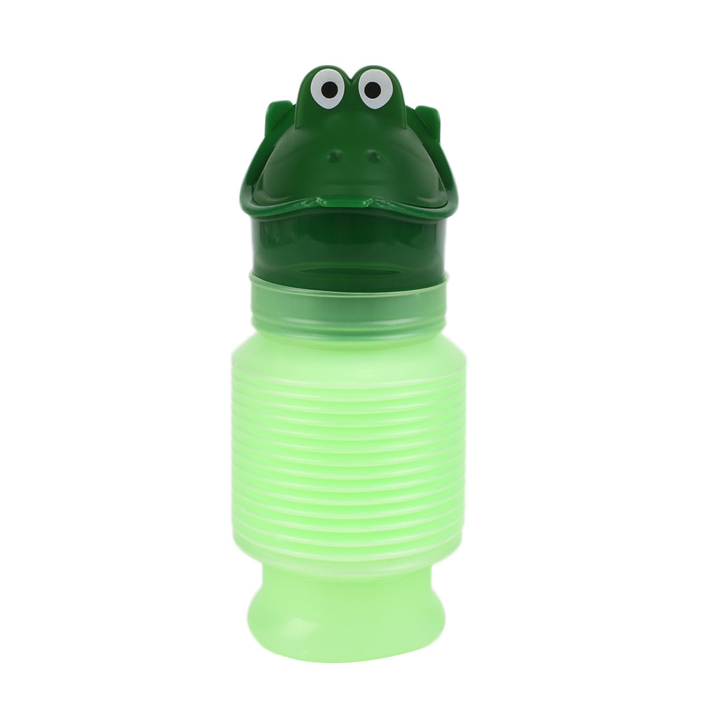 Kids Portable Urinal Travel Camping Car Toilet Potty Bottle 600ml Green
