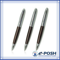 chocoolate novelty customized stamp parker refill laser engraving style metal ballpoint pen