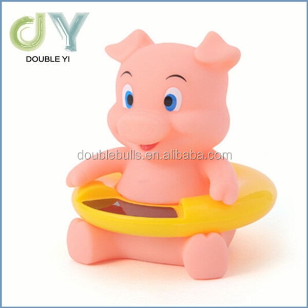 Custom Pig Waterproof Pink digital Baby Bath Thermometer