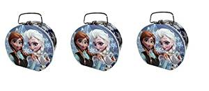 Disney Frozen Semi round Shape Tin box x 3