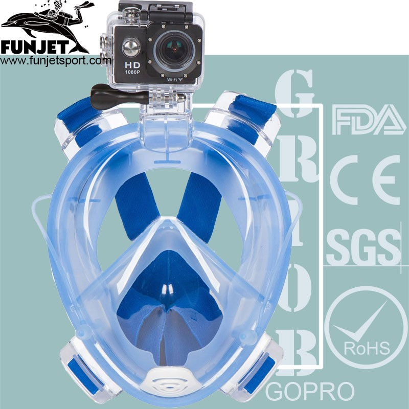 Hot! Diving Mask Underwater Scuba Anti Fog Full Face Snorkeling Mask With Ear Plugs Snorkel 2017 New Arrival
