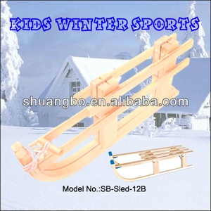 EU Standard Folding Wooden Snow Slide Sled for Winter Sports