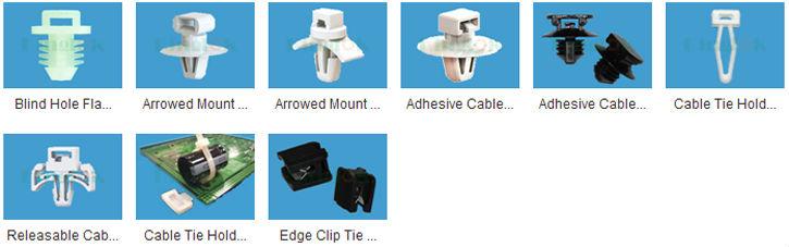 Plastic Cable Clips Wire Tie Mounts Self Adhesive Nylon Mount