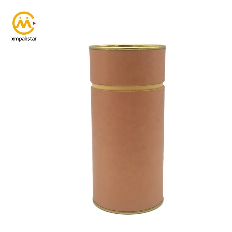 Wholesale high quality custom round cardboard hair tube packaging box