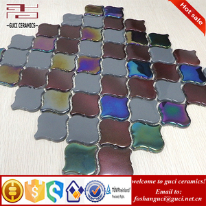 chinese supplier full body lantern design crystal glass tile mosaic backsplash