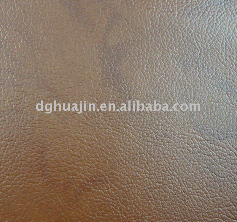 HOT! double colour embossed synthetic leather can match genuine