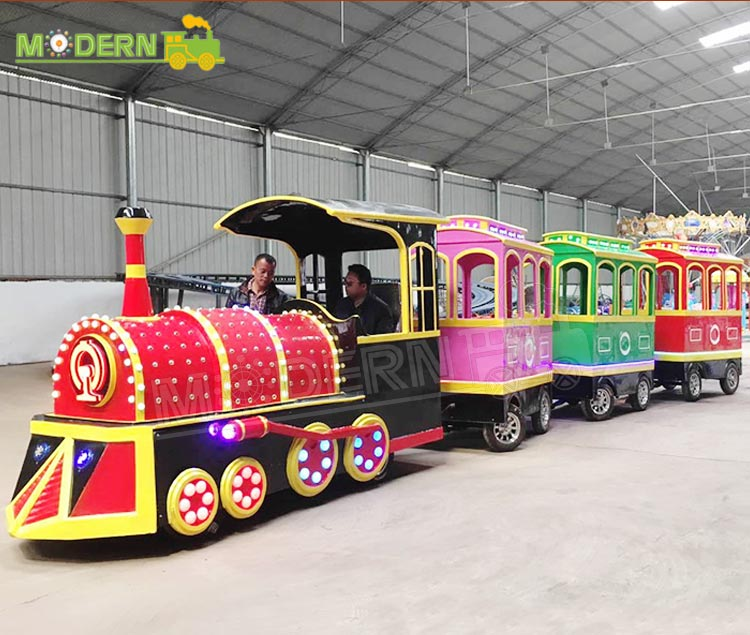 High safety amusement park rides attractions tourist electric kids train