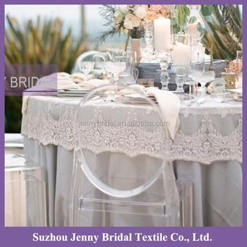 Tcap05a White Round Cap Elegant Wedding Lace Tablecloth - Buy Lace ...