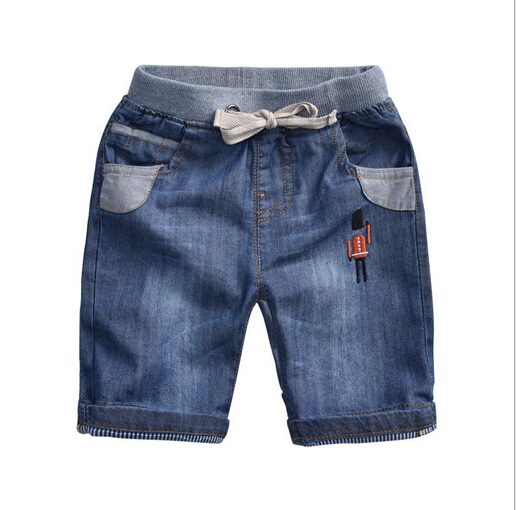 Retail 1PC New 2015 Summer Brand Fashion Cotton Children Short For Boys Baby Kids Boy Casual Denim Shorts CC2114W