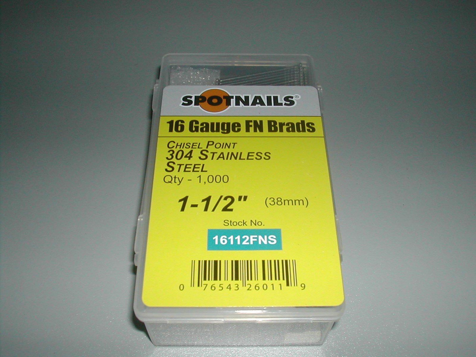 "NailPRO 15 Gauge 2-1//2/"" Angled Finish Nail DA25 304 Stainless Steel 1,000 pcs"