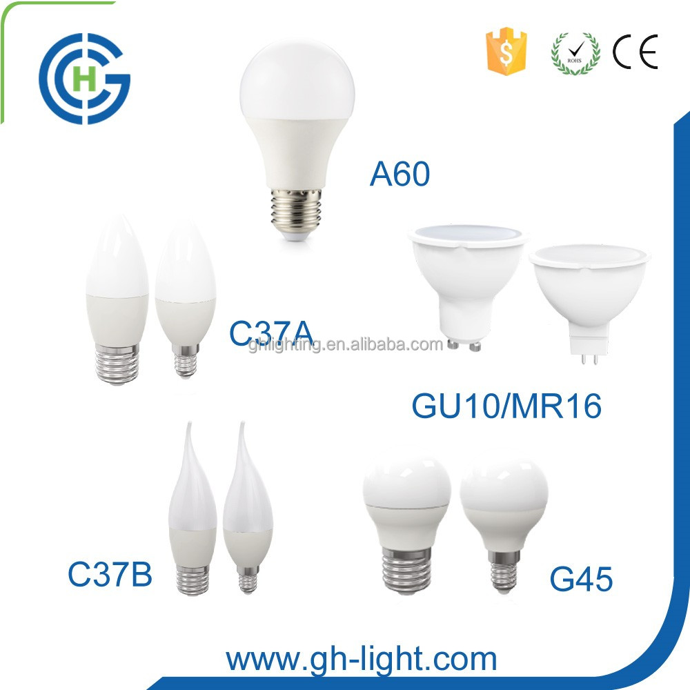 China professional manufacturer CE RoHS A60 3w 5w 7w 9w 10w 12w 15w E27 led the lamp