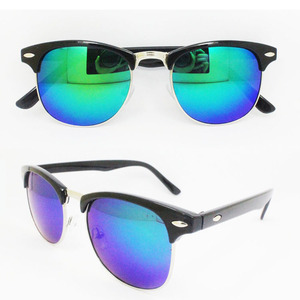 retro sun glasses reflective lens wholesale custom sunglasses
