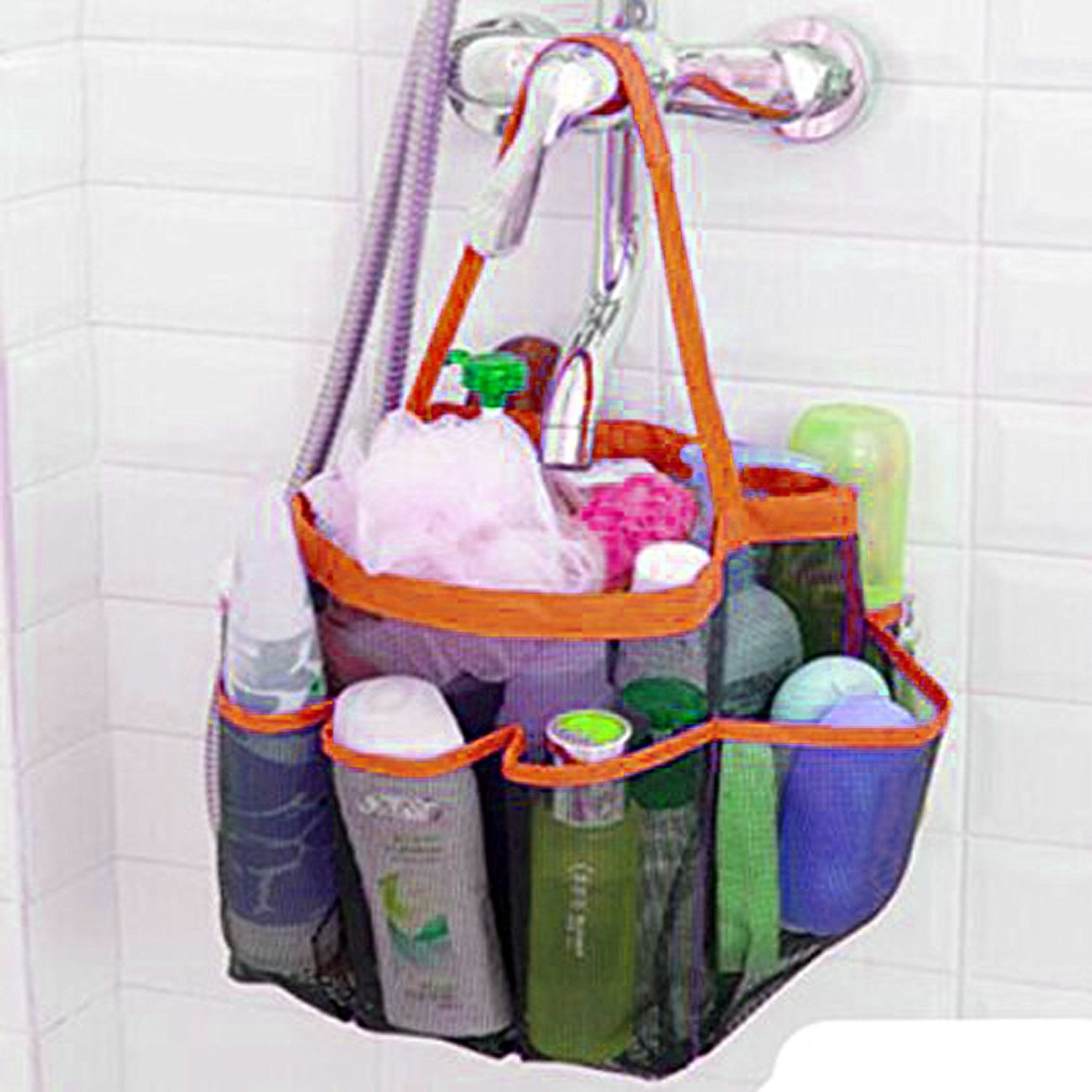 Buy Flexible Quick Dry shower caddy organizer/ 8 pockets with 1 ...