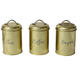 Metal Dry Food Kitchen Storage Canisters For Tea Coffee Sugar