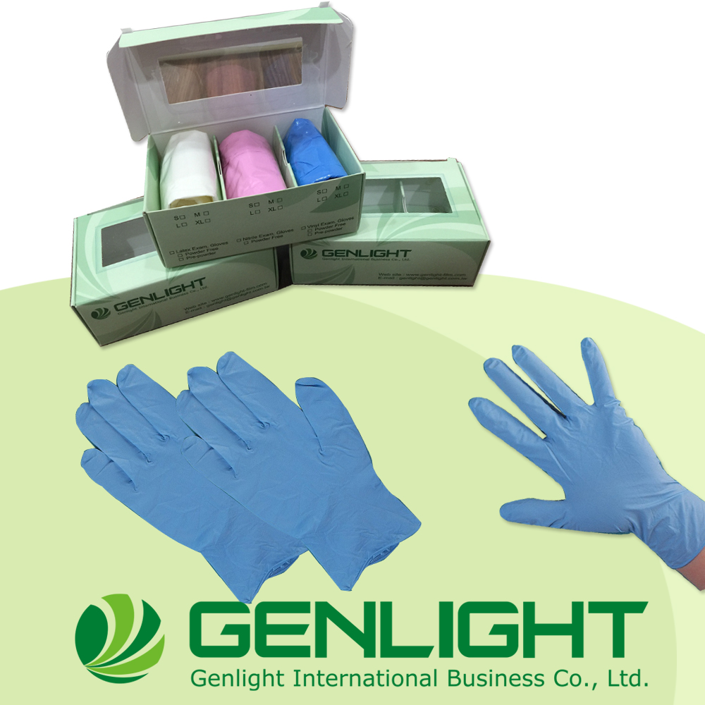 Professional Blue Natural color Disposable Gloves Nitrile