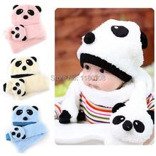 Čiapka a šála Panda v 4 rôzných farbách
