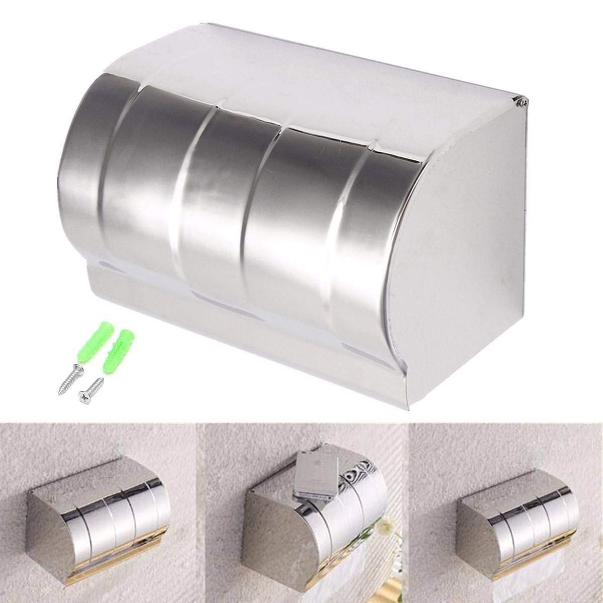 K20 Stainless Steel Roll Holder Wall Mounted Toilet Paper Holder - Hardware & Accessories Industrial Hardware- 1×Toilet Paper Holder, 1×Screw set