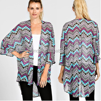 224cb2a8e1 wholesale FLORAL CARDIGAN women fall ladies fall spring 2015 INDIAN CHEVRON  KIMONO CARDIGAN manufacture USA