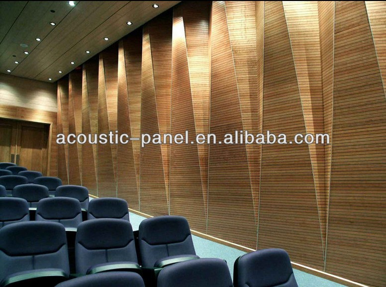 Wood Veneer Mdf Grooved Sound Proof Material Acoustic Wall