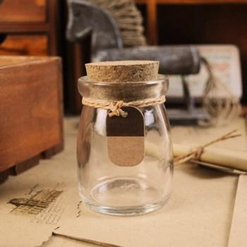Rotondi Mini Vaso Con Tappo In Sughero Bottiglie Di Vetro Coperchio