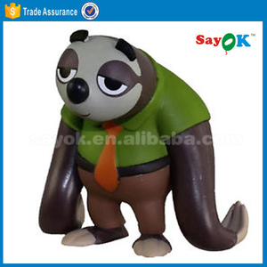 customized design inflatable cartoon character ,inflatable sloth balloon for advertising