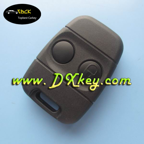 "High quality 2 button car key shell with ""LOCK"" sign on the button for car land rov key cover"