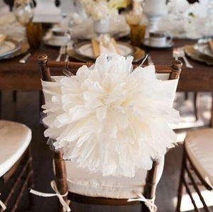 Spandex flower chair cover sash for wedding