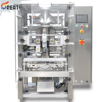 GP580 flat bottom bag or side gusset bags vertical form fill seal packaging machinery for spices yeast chicken powder