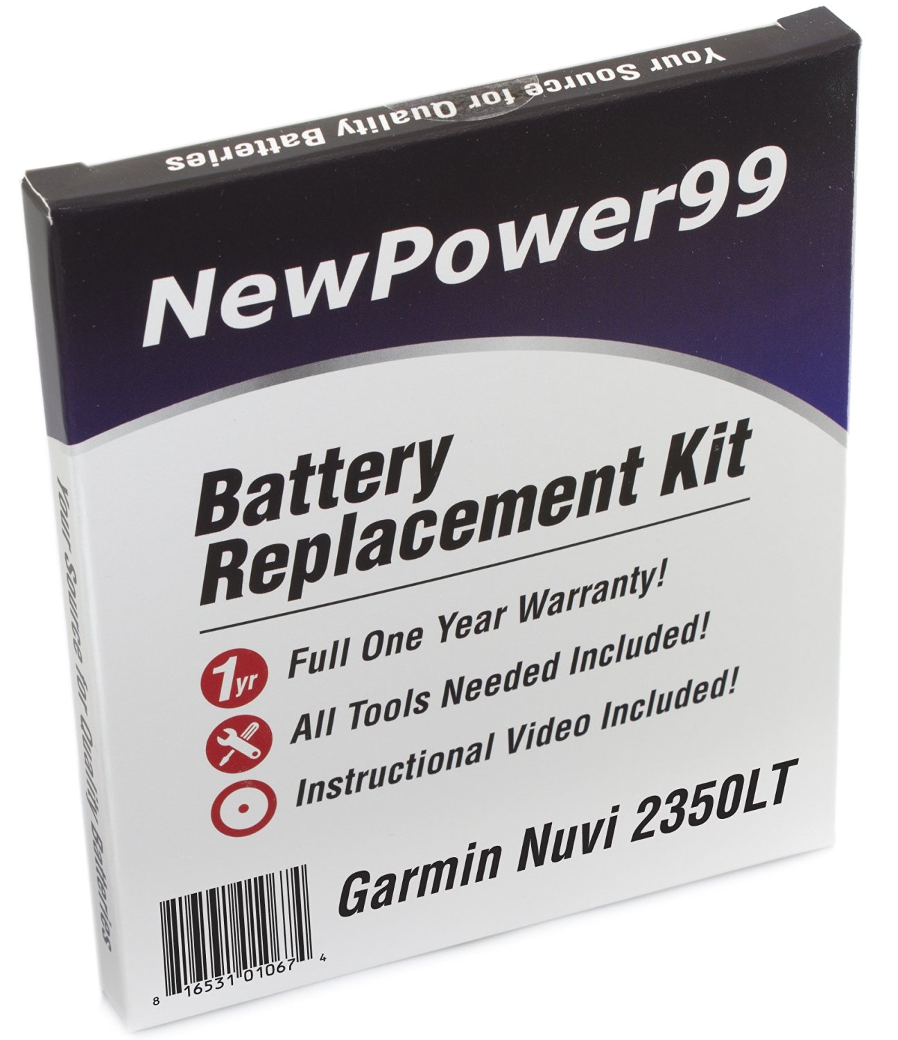 Garmin Nuvi 2350LT Battery Replacement Kit with Installation Video, Tools, and Extended Life Battery.