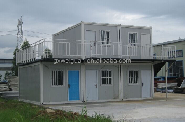 Two storey container house/container building/container hotel