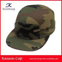 custom palm leaf print 5 panel hat with round brim