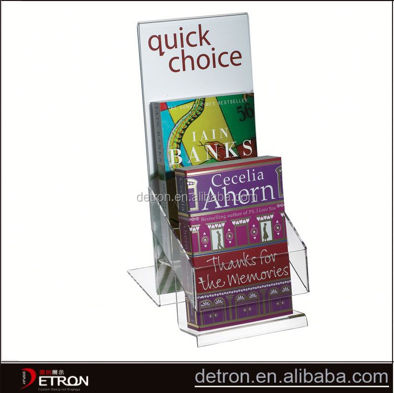 Customized acrylic portable book display stand