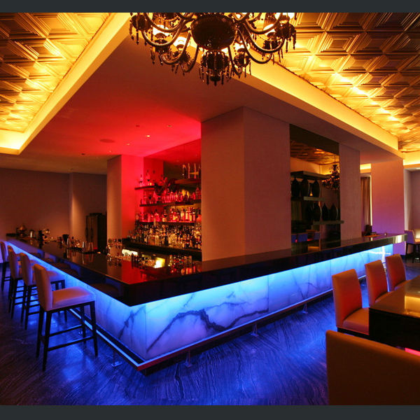 Bar Top Design Ideas: Modern Restaurant Bar Counter Design,Illuminated Led Bar