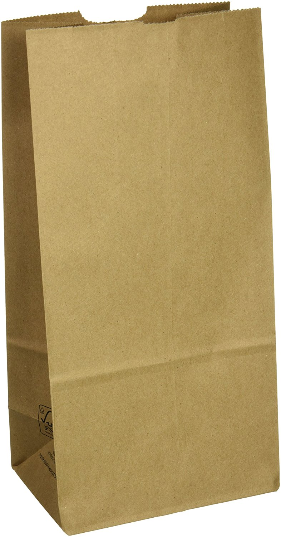Duro ID# 29808 8# Husky SOS Bag 50# 100% Recycled Natural Kraft 500pk (2 packs of 250) 6-1/8 x 4-1/8 x 12-7/16