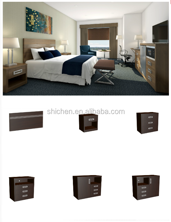 5 star new design high quality hotel room furniture set