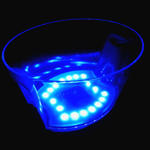 LED ice cube bin for party and bar