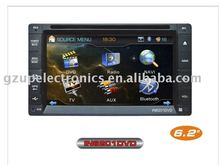 "6.2""universal 2 din car dvd player with 3D UI/ GPS/TV"