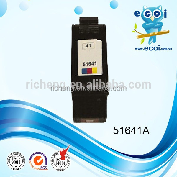 Hot sale 51641A 41 remanufactured ink/inkjet cartridge, with 24 months guarantee