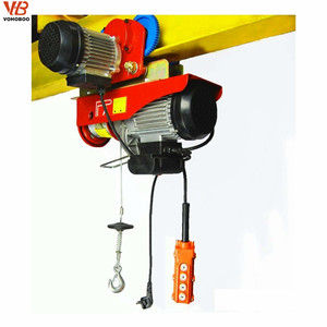 PA mini electric hoist power lift engine hoist with running trolley