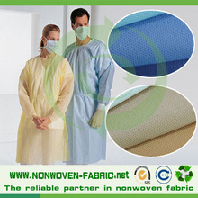 PP /SMS Nonwoven fabric for medical gown,40gsm white and blue color non woven /non woven sms fabric from quanzhou