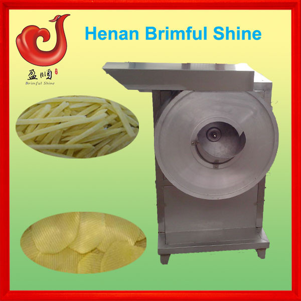 commercial potato peeler and slicer in fast food restaurant