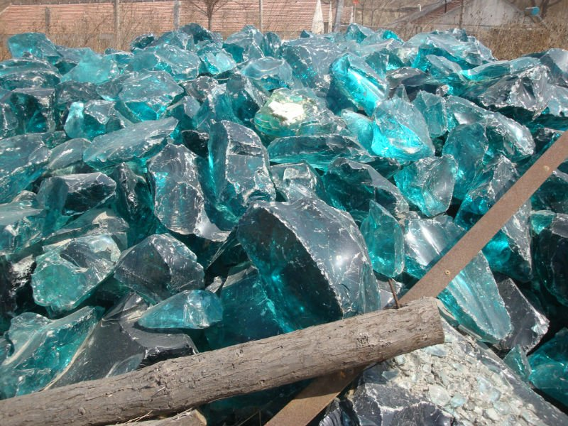 Landscaping Decoration Glass Rock For Gabion View Glass